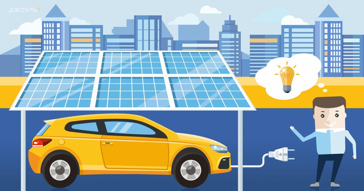 Скільки потрібно сонячних панелей щоб зарядити електромобіль